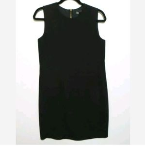 VINCE Women's Black 100% silk sleeveless dress